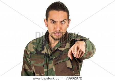 young hispanic military man