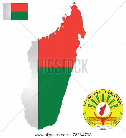Republic of Madagascar Flag