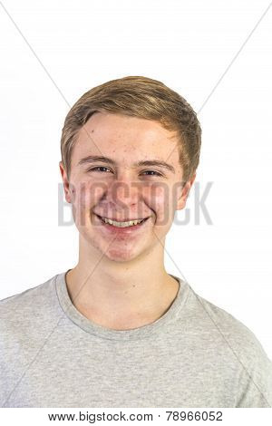 Portrait Of An Adolescent Boy In Puberty