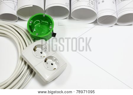 Drawing rolls and electrical hardware items composition