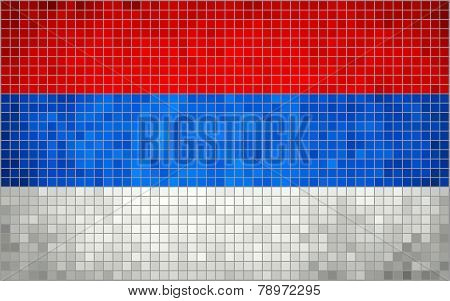 Mosaic flag of Serbia