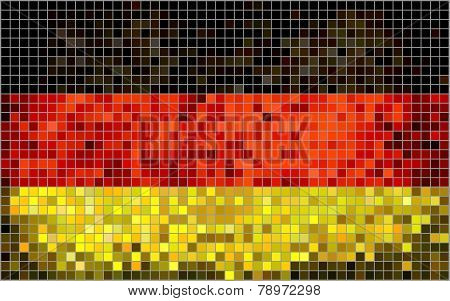 Abstract Mosaic flag of Germany