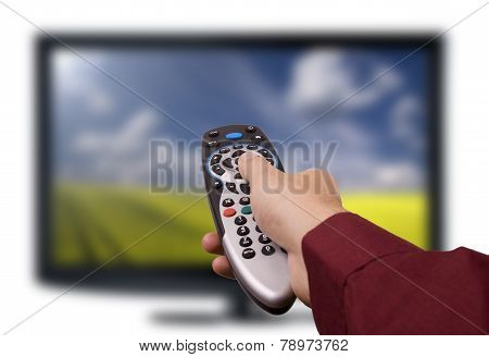 Tv Remote Control. Television Flat Lcd.