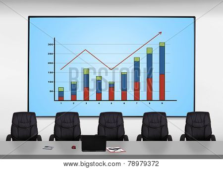 Plasma Screen With Chart
