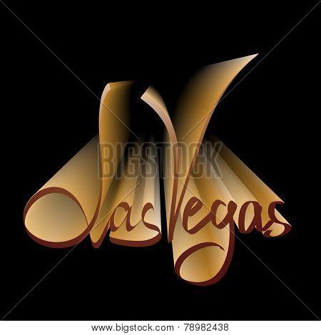 Las Vegas lettering