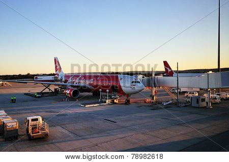 Airasia X Landed At Perth Domestic And International Airport