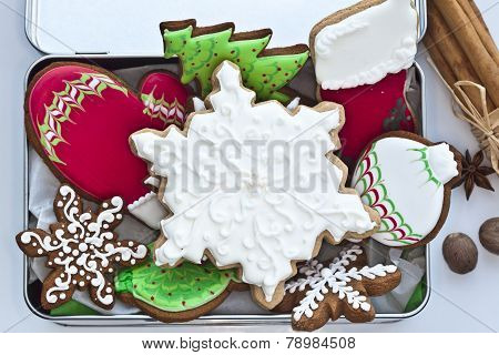 Iced cookies for Christmas and New Year.