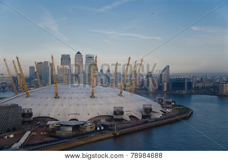 LONDON, UK  - APRIL 23 2014: The O2 Arena in London