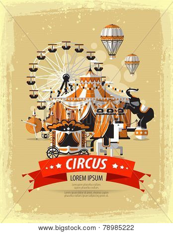 circus, fairground, carnival. vector illustration