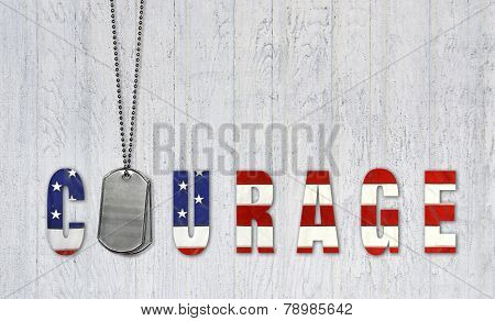 dog tags for patriotic courage