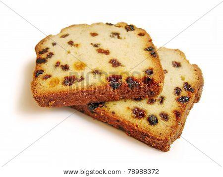 Two Pieces Of Fruitcake