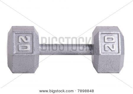 Twenty Pound Metal Dumbbell
