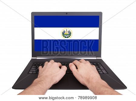 Hands Working On Laptop, El Salvador