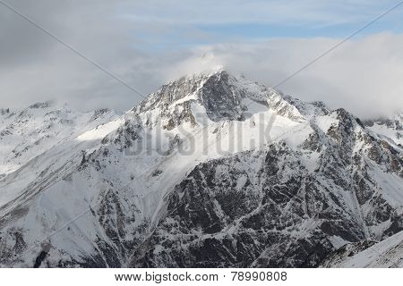 Scenic View Of The Mountains, Ski Resort Dombay