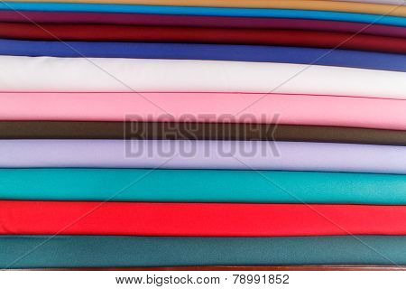 Colorful Fabrics Or Clothes As A Background