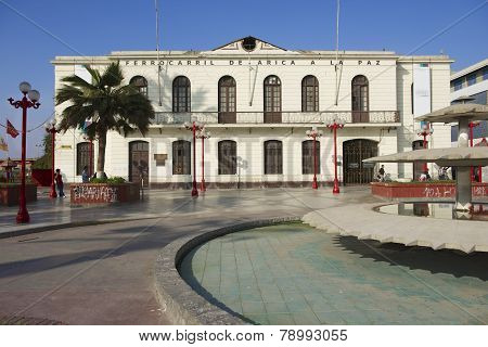 Arica-La Paz railway station, Arica, Chile.