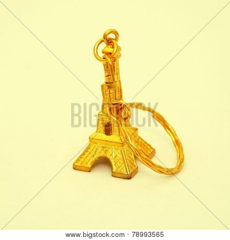 Gold Eiffel Tower Trinket