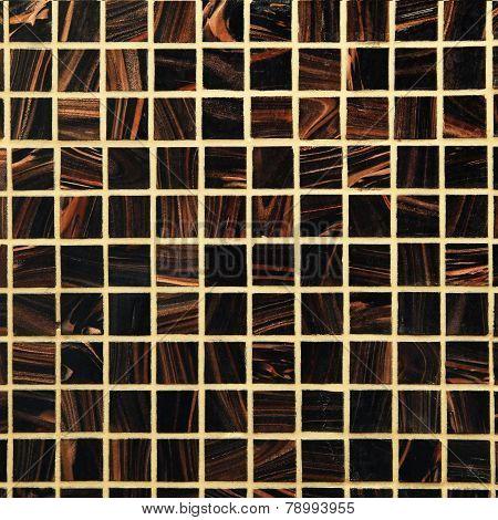Mix Brown Shiny Glass Mosaic