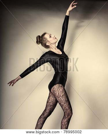 Graceful Woman Ballet Dancer