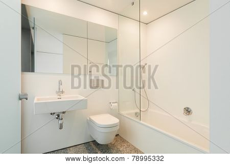Modern architecture; nice apartment; bathroom