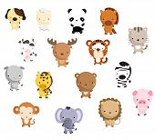 pic of cute tiger  - a simple and cute Mammal vector set - JPG