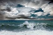 pic of storms  - View of storm seascape - JPG