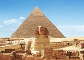 foto of the great pyramids  - Pyramid and Great Sphinx Of Giza  - JPG