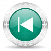stock photo of christmas song  - previous green icon - JPG