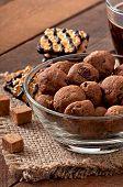 pic of baked raisin cookies  - Italian cookies Florentino with raisins and walnuts - JPG