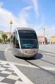 image of na  - Tramway in the Nice square called Place Mass - JPG
