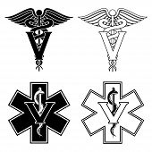 Постер, плакат: Veterinarian Medical Symbols