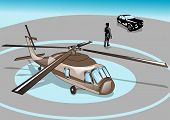 image of helicopter  - business man and helicopter - JPG