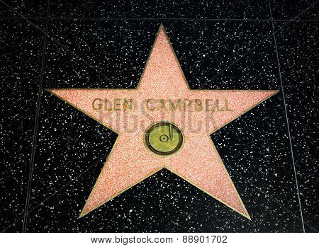Glen Campbell Star On The Hollywood Walk Of Fame