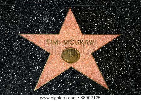 Tim Mcgraw Star On The Hollywood Walk Of Fame