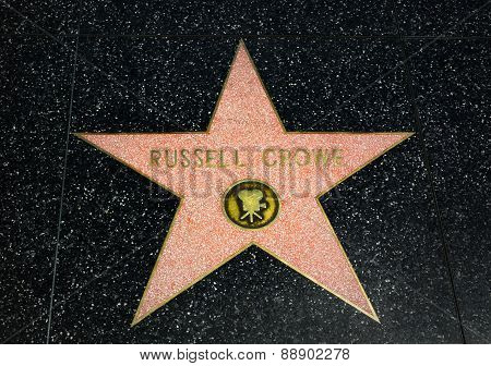 Russell Crowe Star On The Hollywood Walk Of Fame