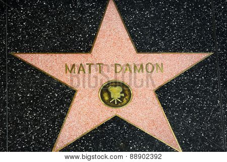 Matt Damon Star On The Hollywood Walk Of Fame