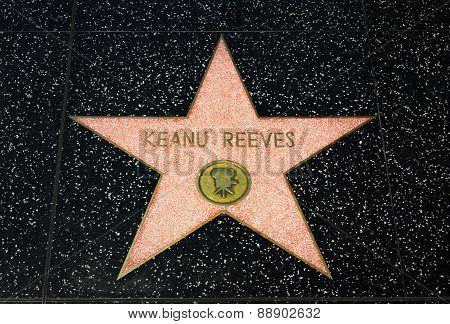 Keanu Reeves Star On The Hollywood Walk Of Fame