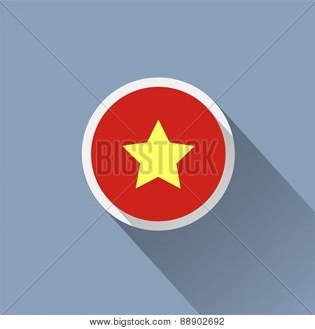 Vietnam Flag Button