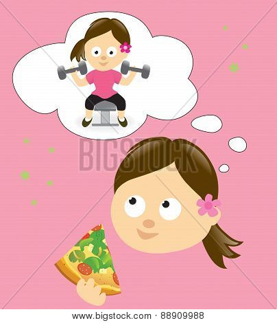Diet and exercise concept