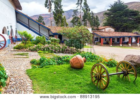Colonial Courtyard In Tarma, Peru