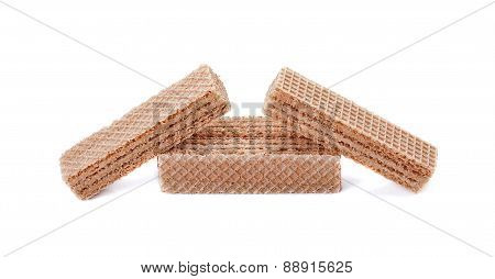 Wafer Candy Isolated On White Background, Macro