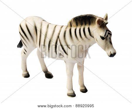 Zebra Toy On White Background