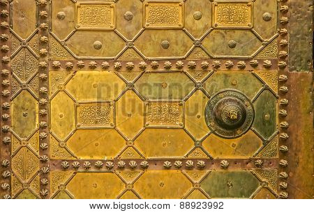 Traditional Moroccan Metal Door