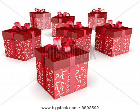 Mystery Gift And Surprise Concept Gift Box