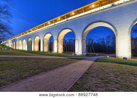 Rostokino Aqueduct In Moscow, Russia
