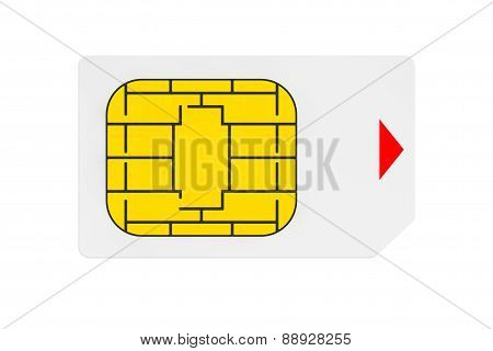 Mobile Telecommunication Concept. Macro View Of Sim Card