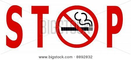 No Smoking Stop Sign
