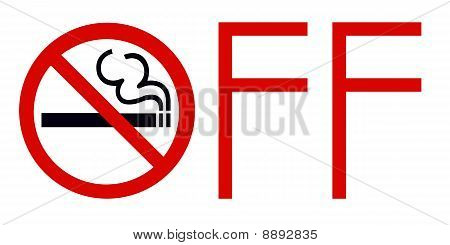 No Smoking Zone OFF Sign