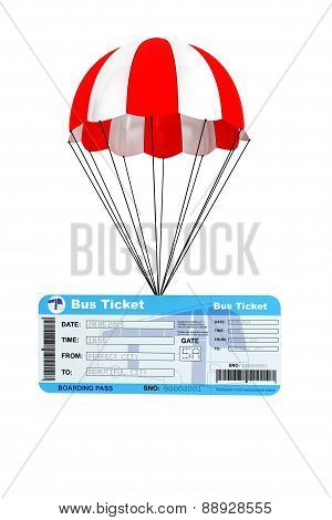Bus Ticket With Parachute
