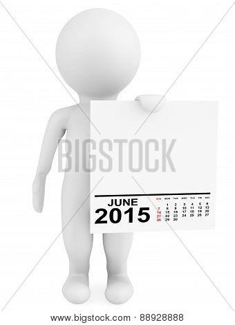 Character Holding Calendar June 2015